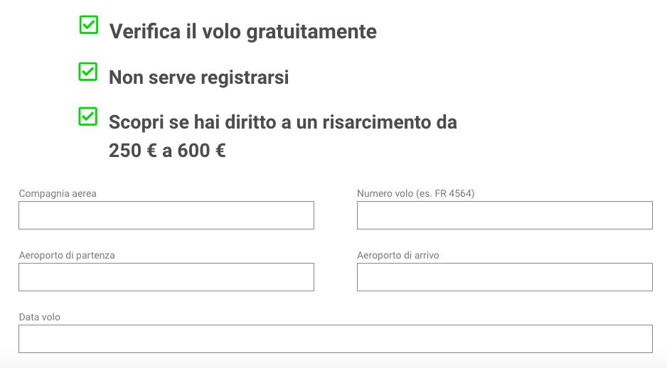Modulo on line per reclamo Iberia