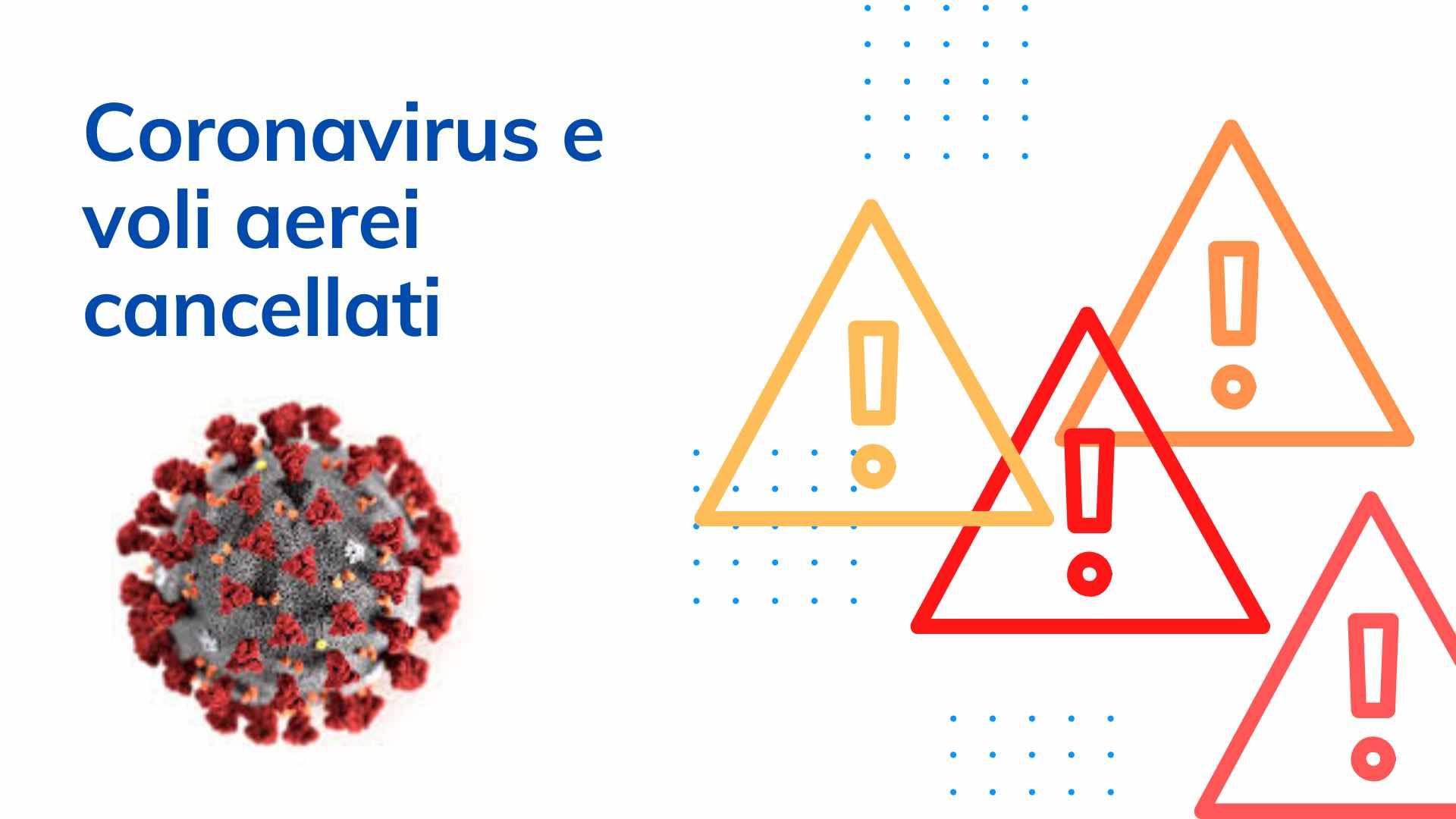 Volo cancellato per coronavirus e rimborso