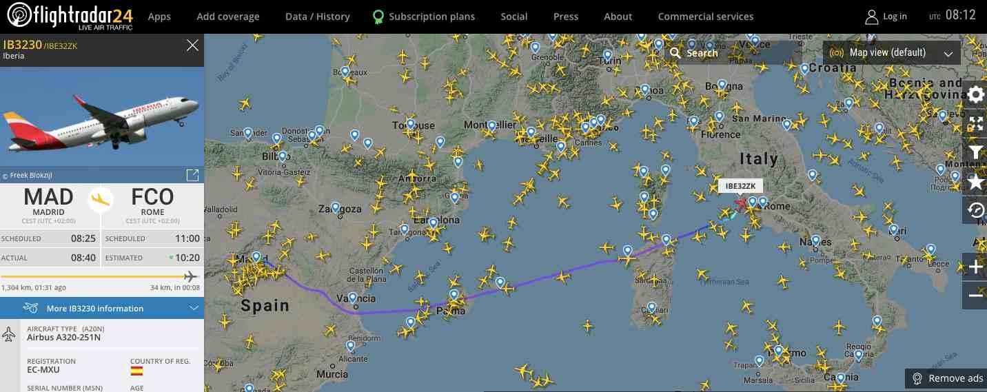 esempio-tracciamento-volo-iberia